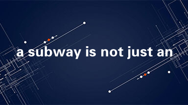 a subway is not just an